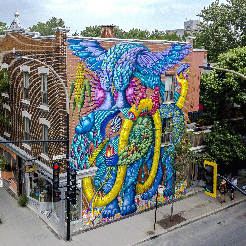 Murale de Danaé Brissonnet sur la rue Robin