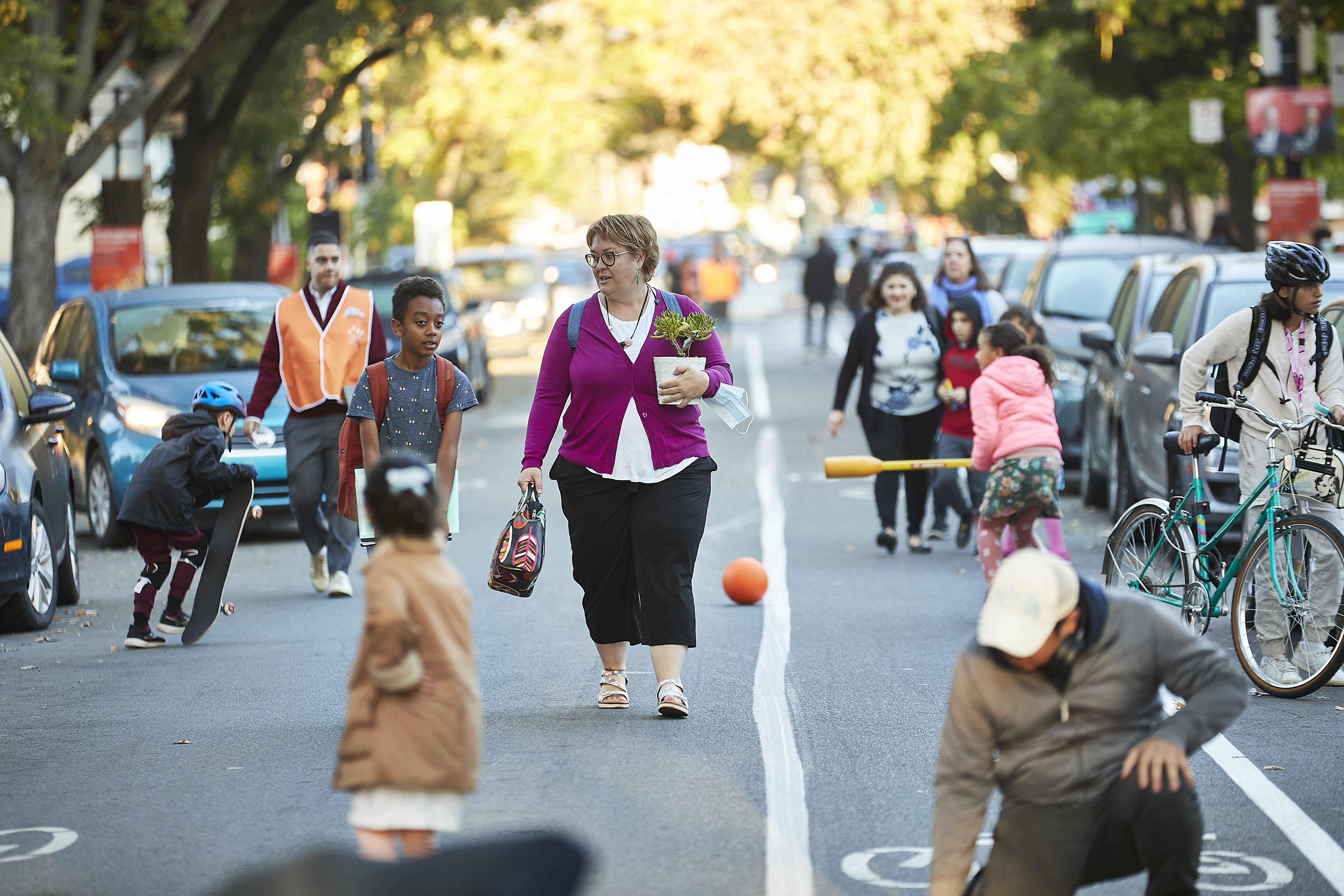 Rue réservée aux élèves et à leurs parents