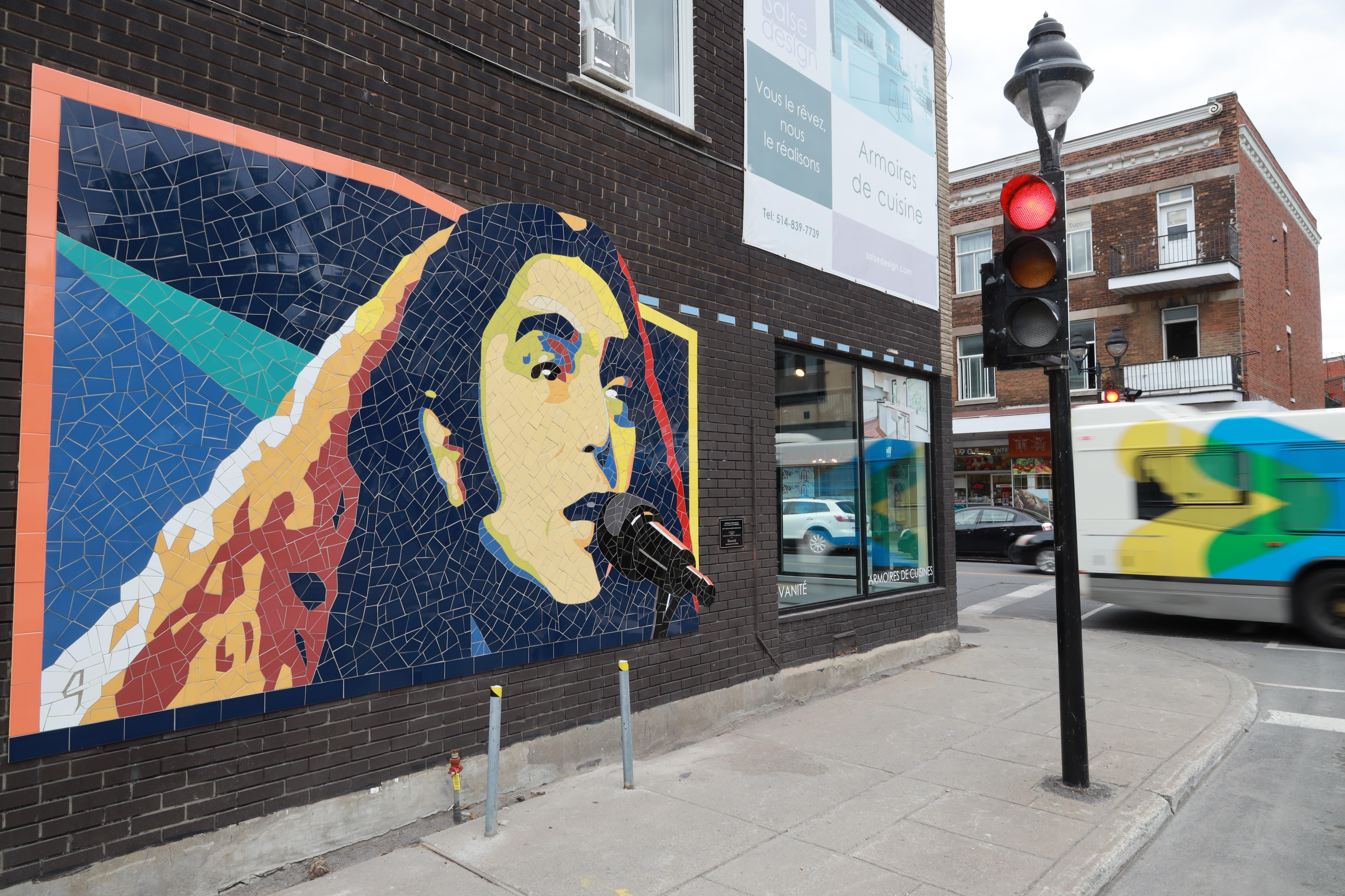 Murale à l'effigie du chanteur Gerry Boulet