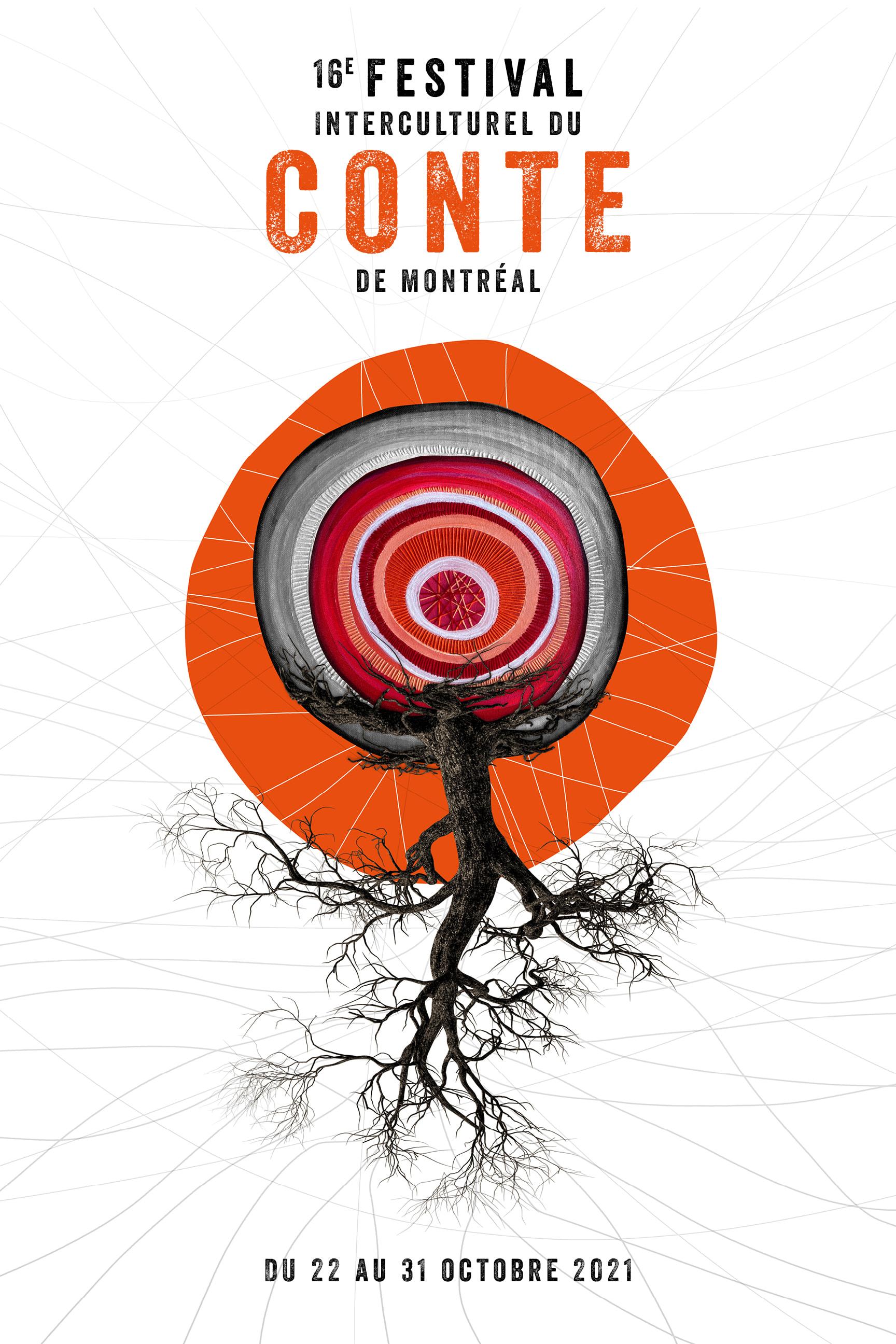 Affiche officielle du 16e Festival Interculturel du Conte de Montréal.