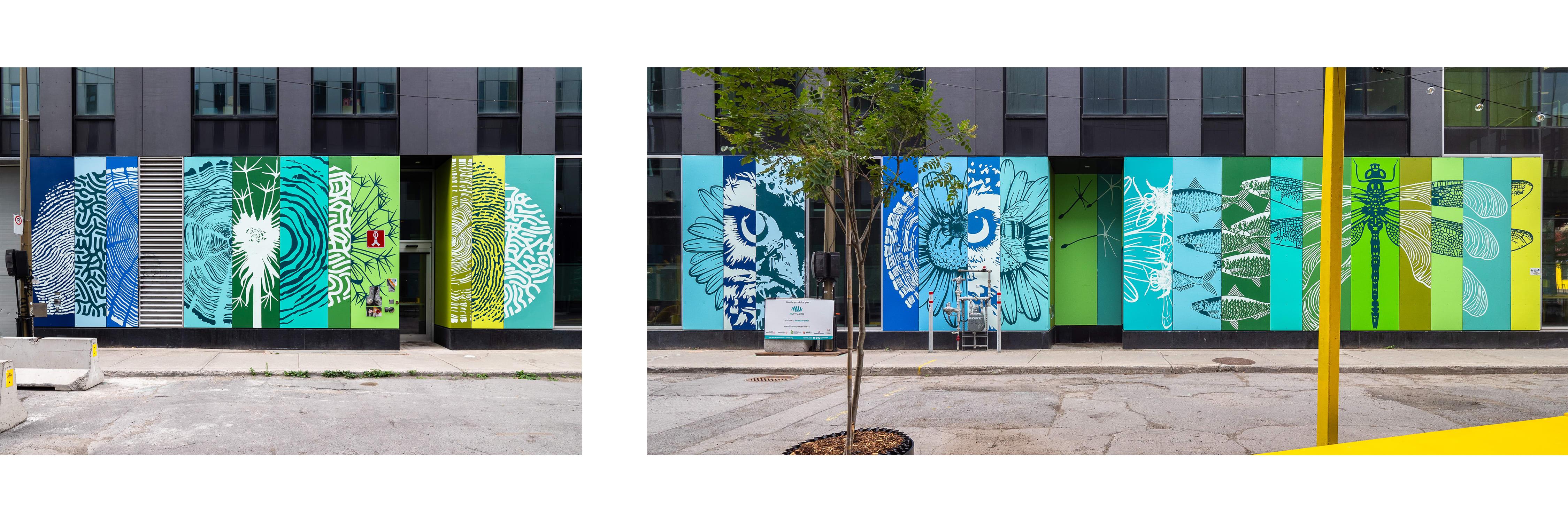 Murale sur la Maison du développement durable