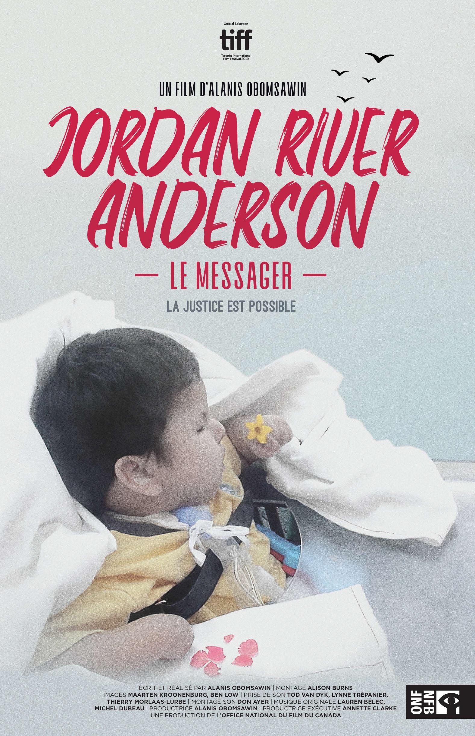 Affiche du documentaire Jordan River Anderson, le messager de Alanis Obomsawin.