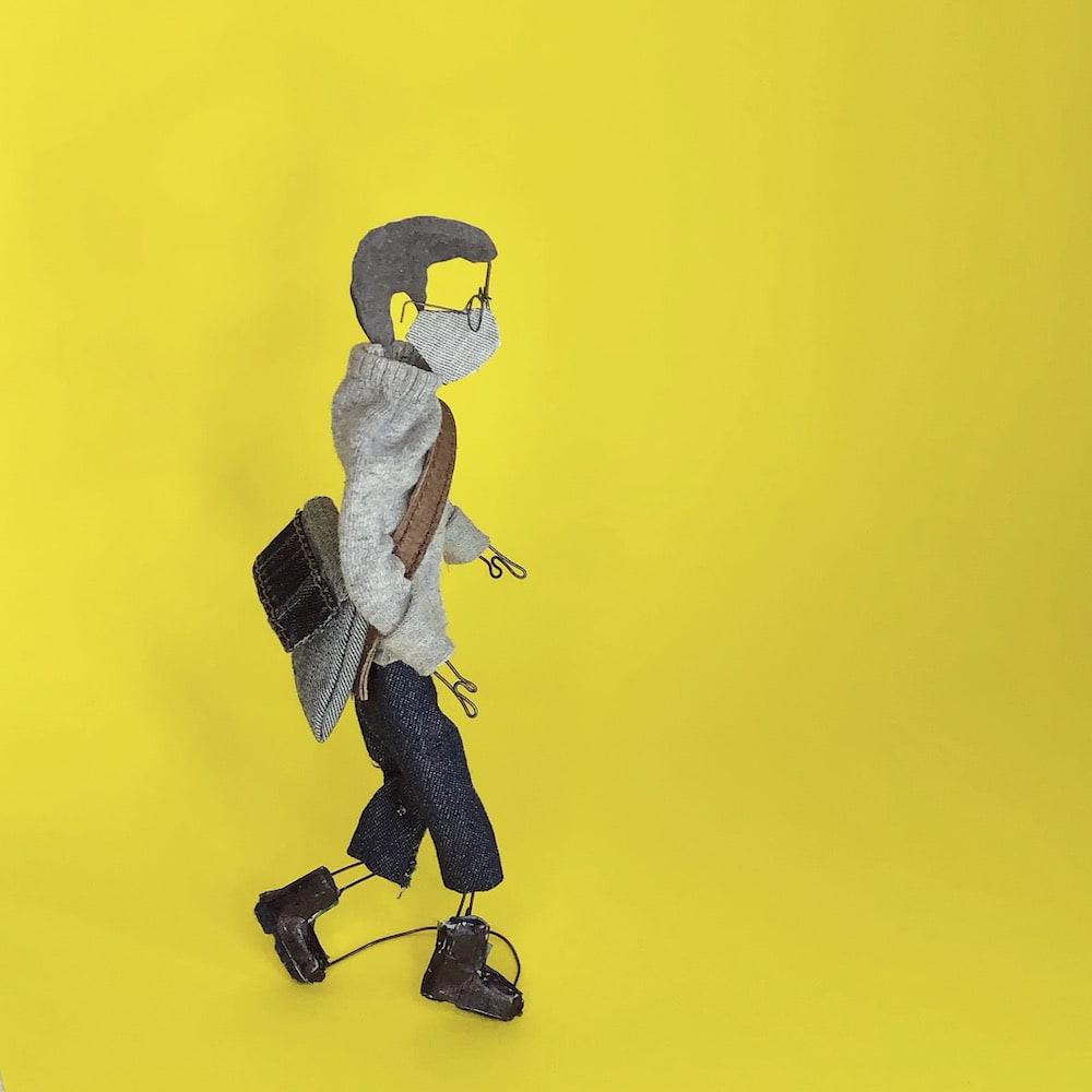 Photo intitulée Autoportrait de l'artiste Monique Ste-Marie de son exposition Amadouer le confinement.