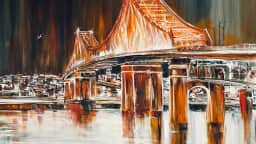 Toile du pont Jacques-Cartier