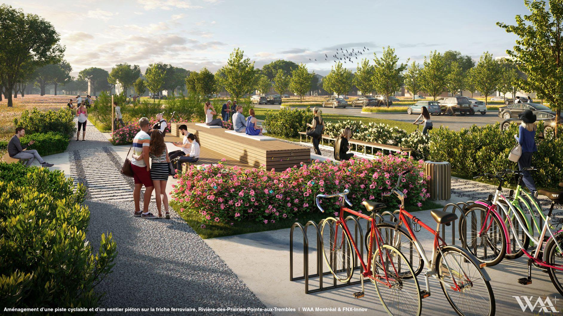 Quatre haltes borderont le tracé du parc de la friche ferroviaire, dont celle-ci, la halte thématique histoire et patrimoine.