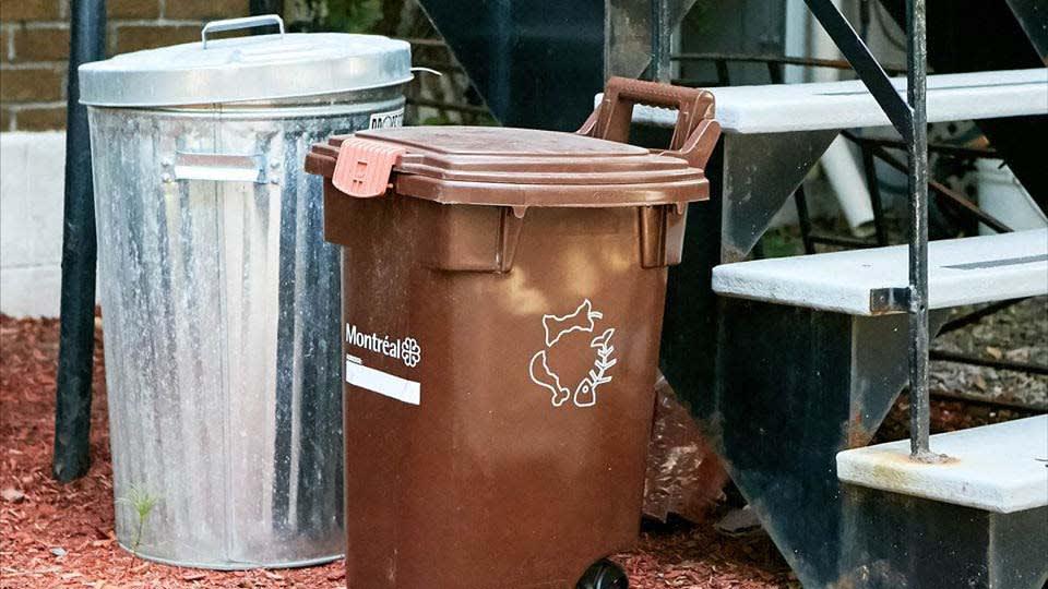 Bacs de collecte de résidus alimentaires et déchets domestiques