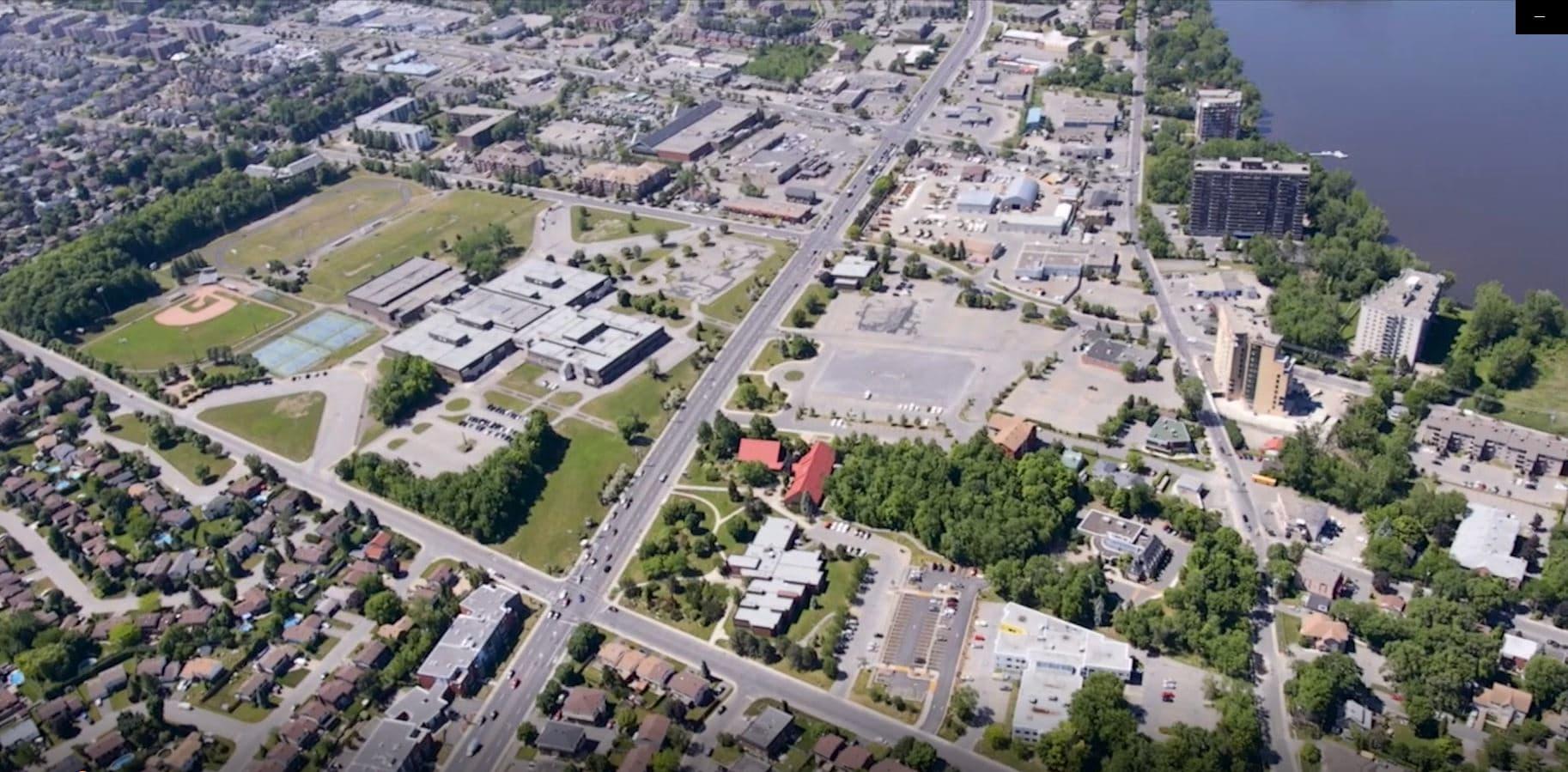 Vue aérienne de Pierrefonds-Roxboro