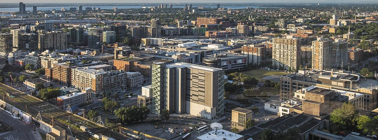 Vue aérienne du quartier Griffintown