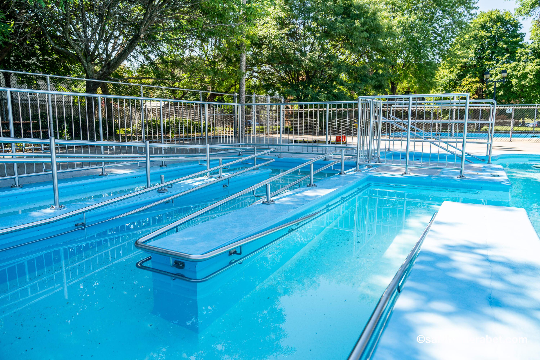 rampe d'accès à l'eau