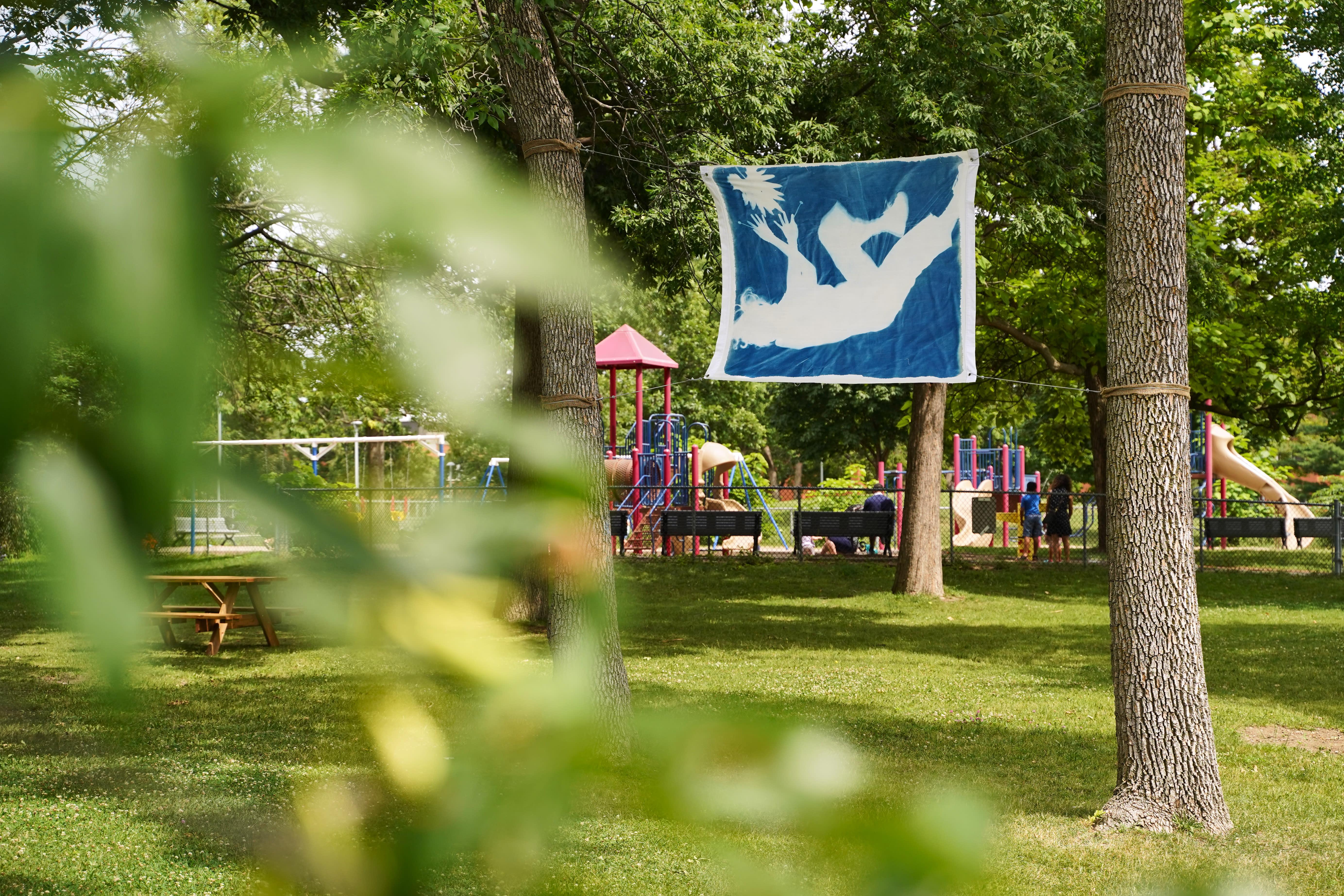 Bleu des rêves, 2020 (Tanha Gomes), Parc Tolhurst, Ahuntsic-Cartierville