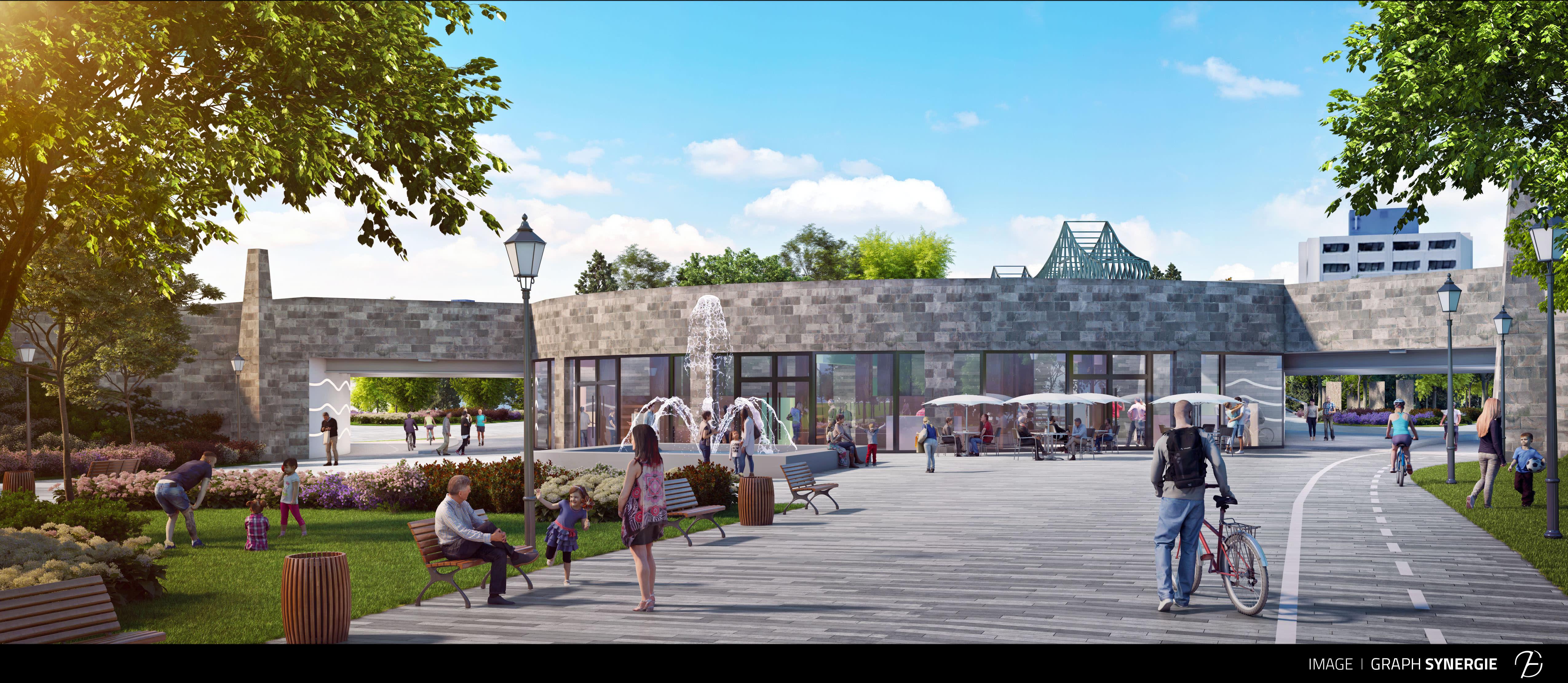 L'entrée du pont Jacques-Cartier mieux intégrée aux milieux de vie et le parc des Faubourgs réunifié