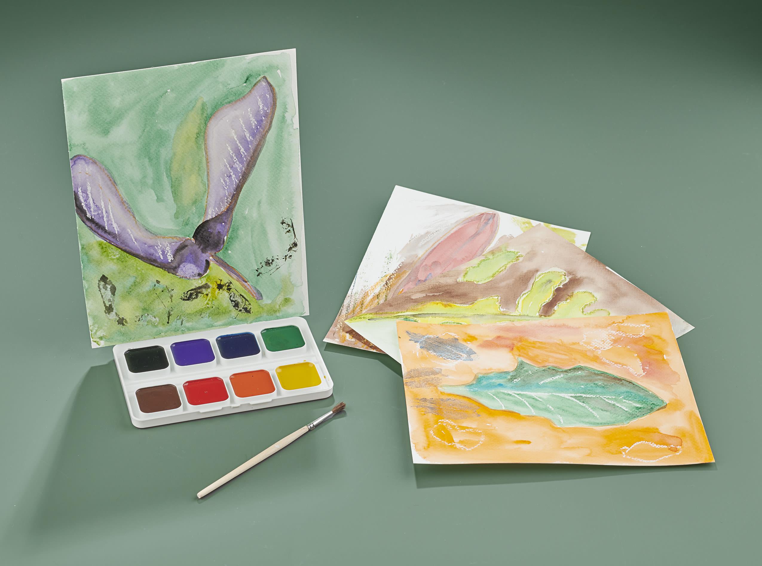 Atelier créatif Portrait de feuilles et de fleurs.