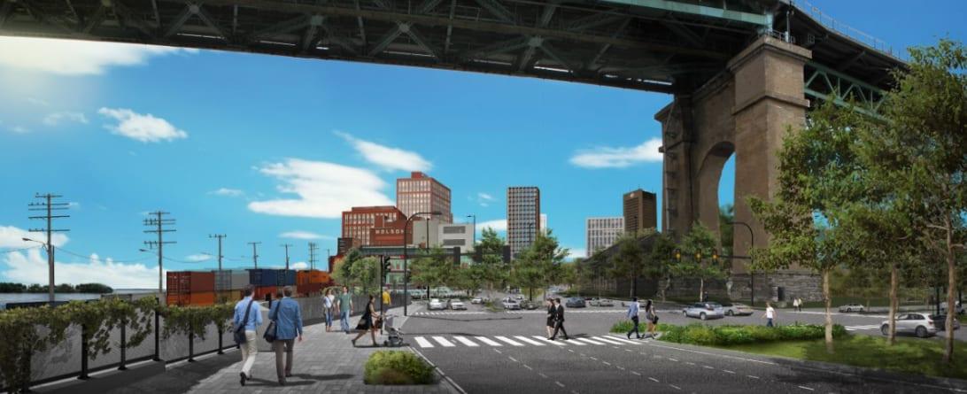 L'entrée de l'autoroute Ville-Marie transformée en boulevard urbain