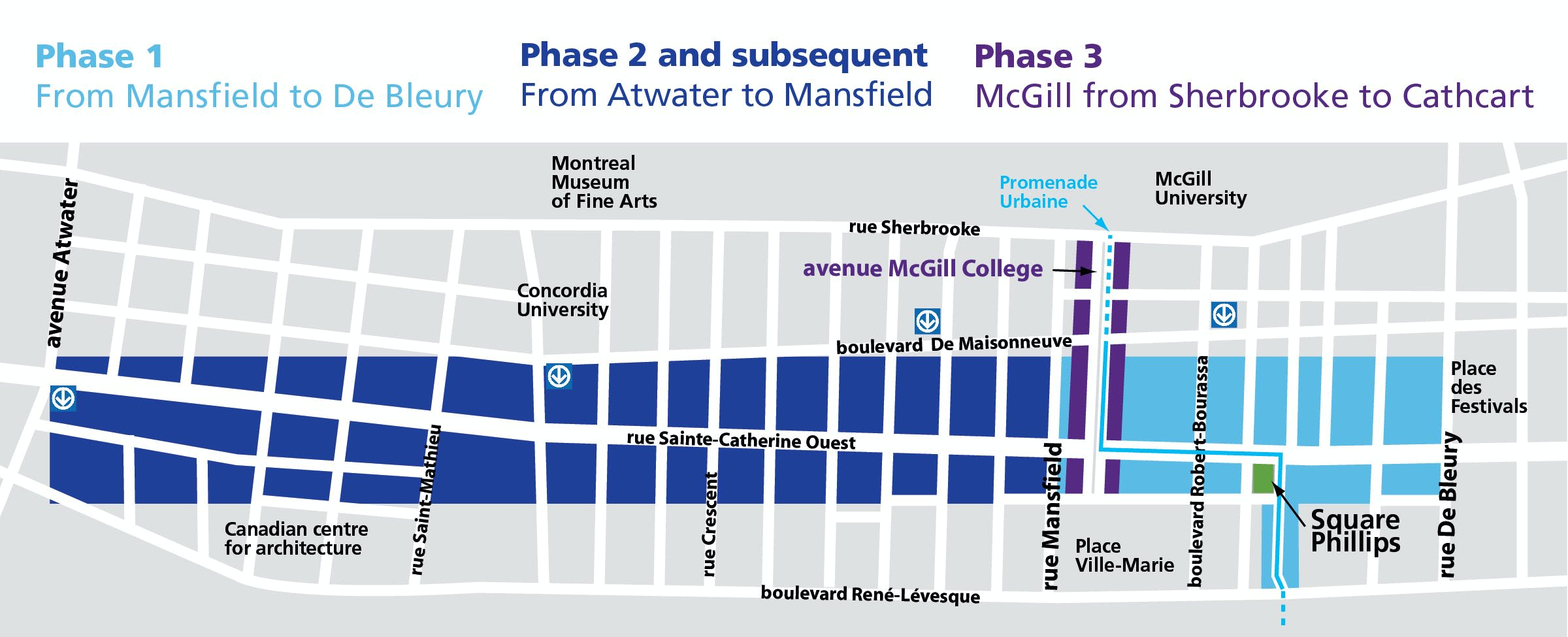Map of Rue Sainte-Catherine 3 phase project