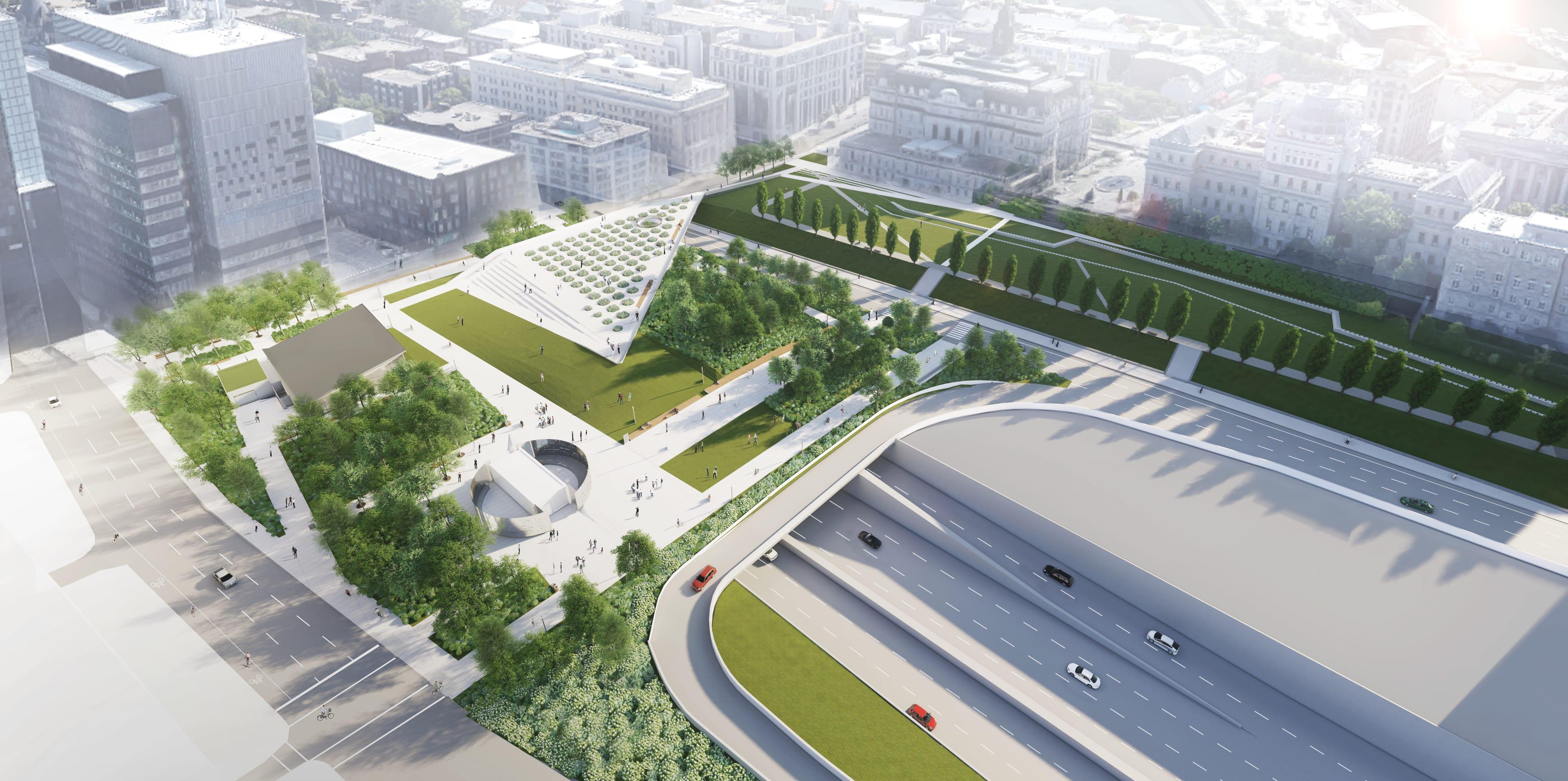 La future place des Montréalaises - vue d'ensemble