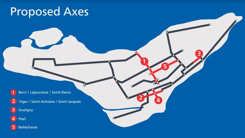 Proposed Axes - EBN: Express Bike Network