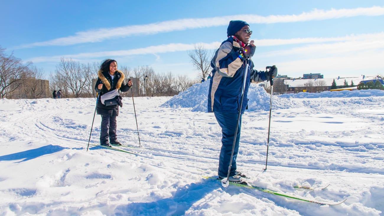 Ski de fond de long des berges de Verdun