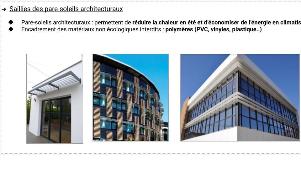 Pare-soleils architecturaux