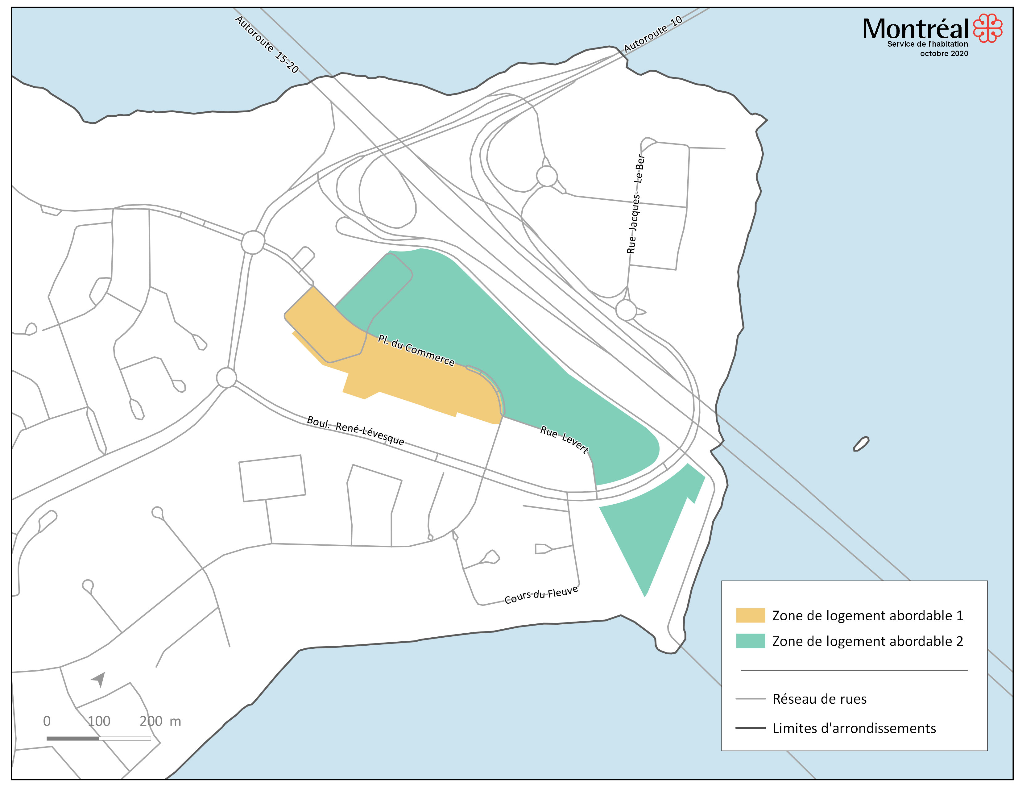 Zones de logement abordable - Île-des-Soeurs