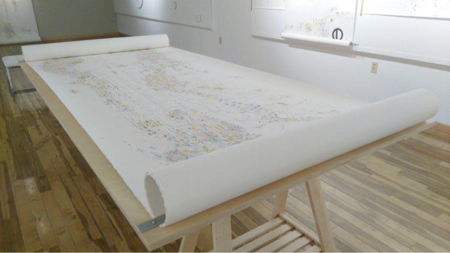 Cartes collectives créées avec les résidents de Lasalle et l'artiste Suzanne Joos