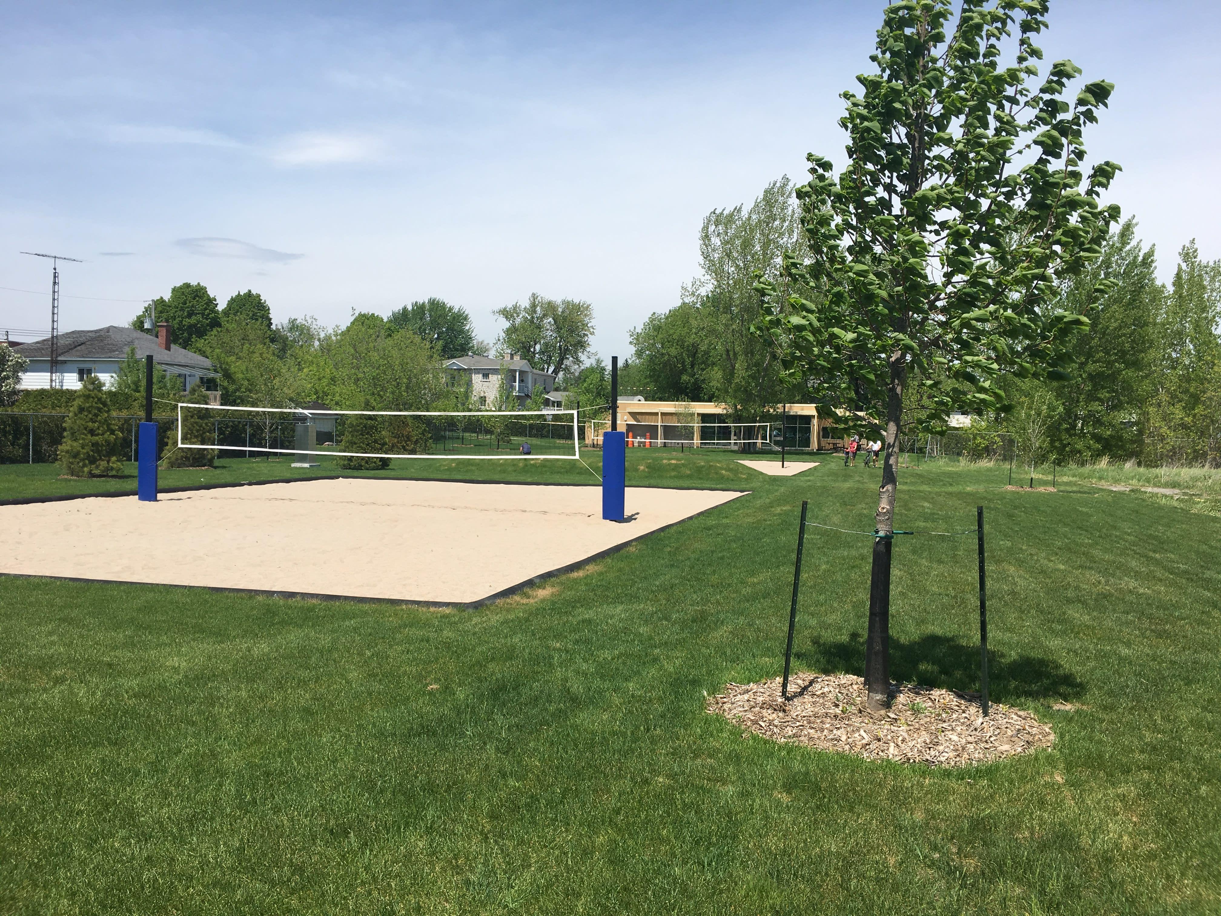 Terrain de volleyball de plage