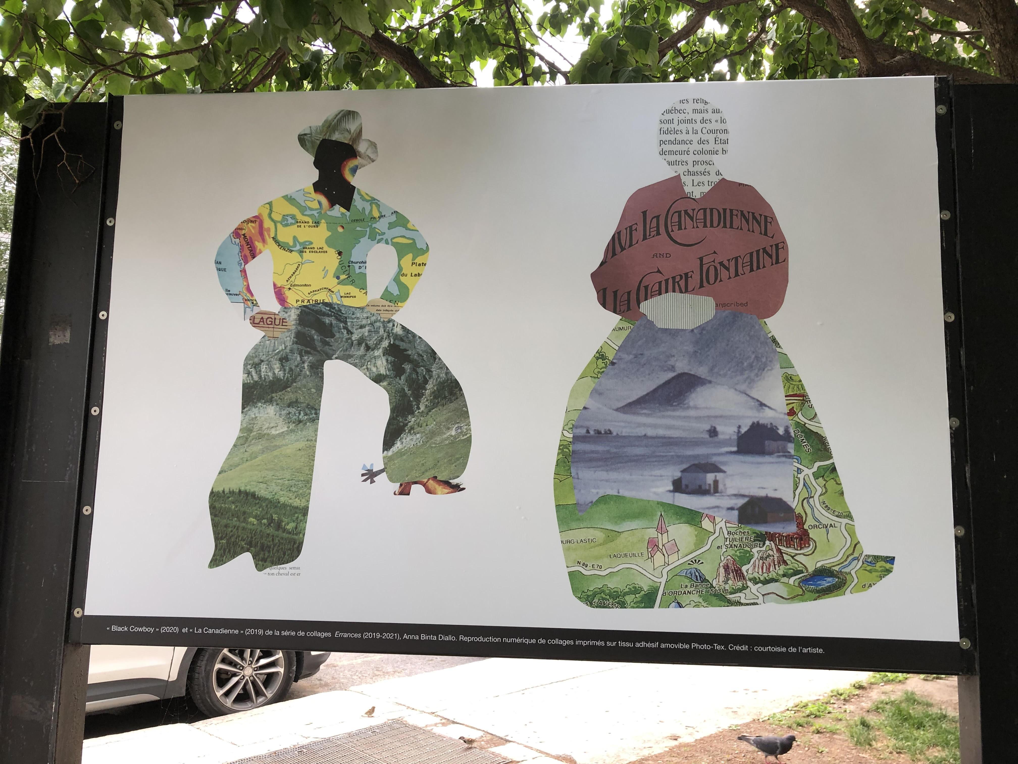 Photo des œuvres Black Cowboy et La Canadienne de Anna Binta Diallo