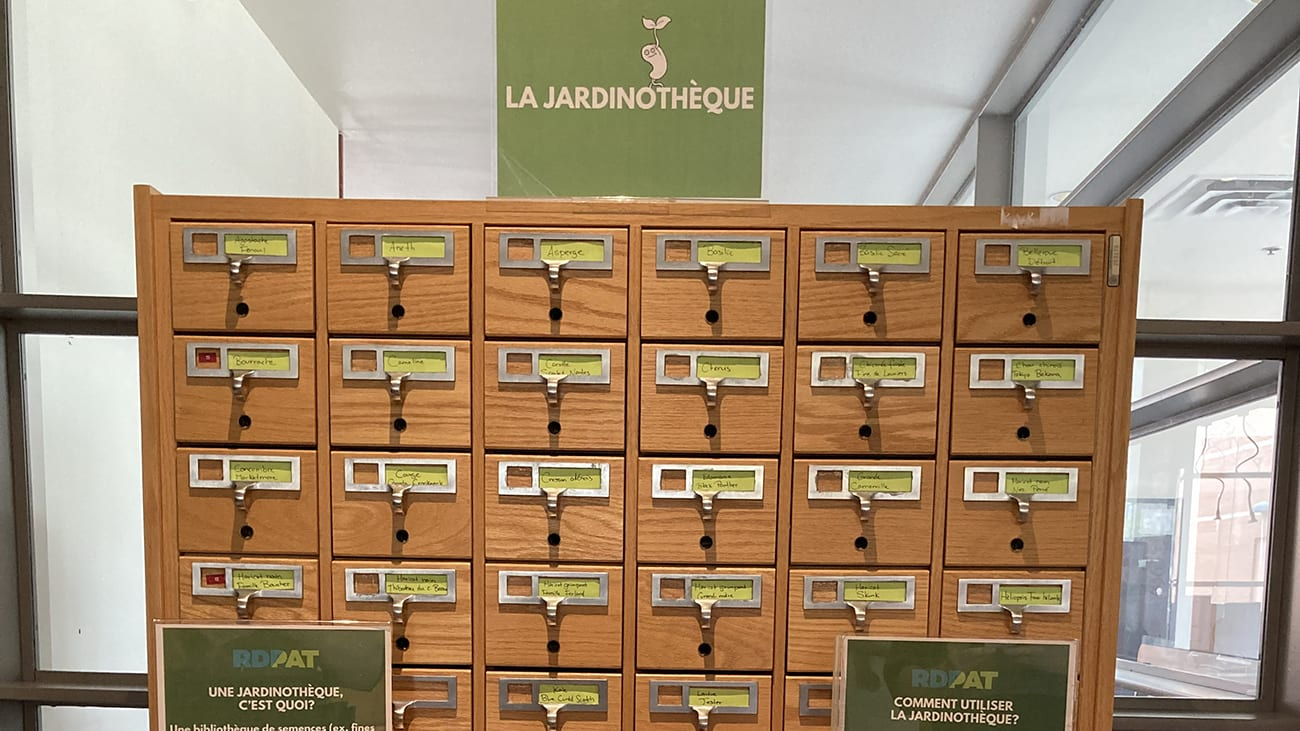 Jardinothèque de la bibliothèque de Pointe-aux-Trembles