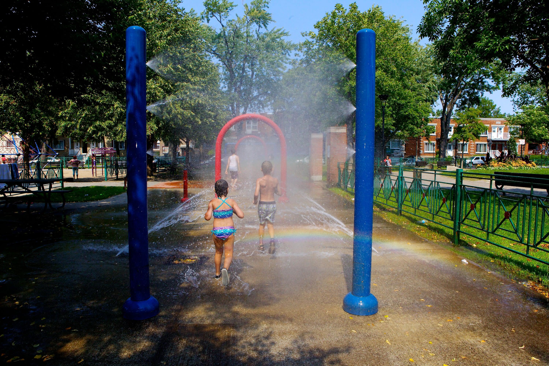 Jeux d'eau parc De Lestre