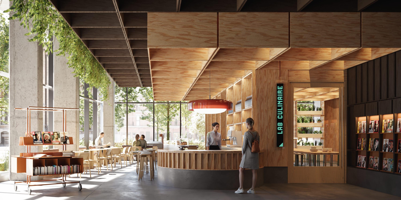 Aménagement proposé pour le café du centre Sanaaq
