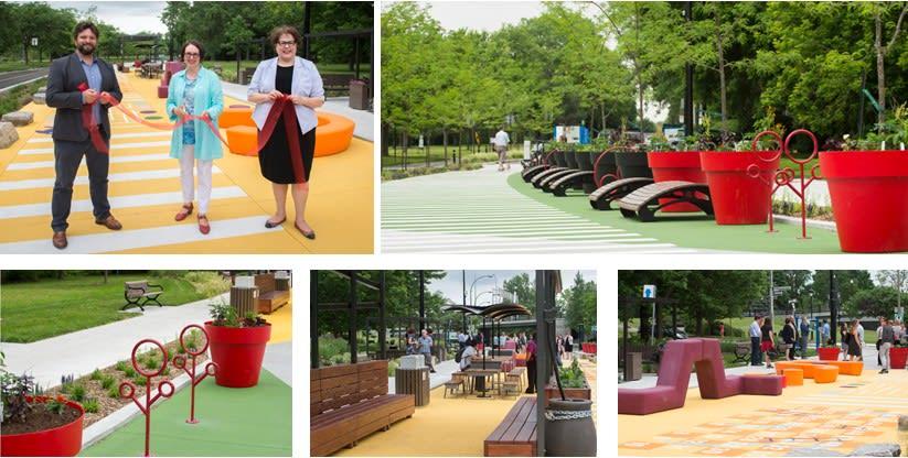 Inauguration de l'avenue piétonne permanente Park Stanley lors de la saison estivale