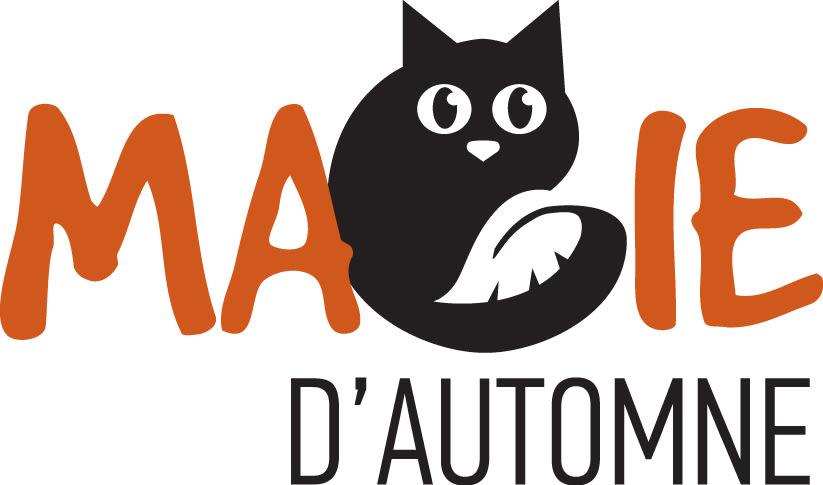 Chat noir magie d'automne
