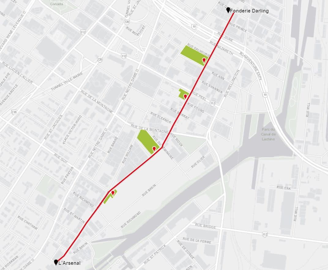 Le parcours culturel Ottawa relie Griffintown au Vieux Montréal