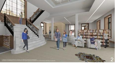 Intérieur de la future bibliothèque Maisonneuve