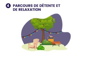 Illustration de ce à quoi pourrait ressembler le projet 4- Parcours de détente et de relaxation