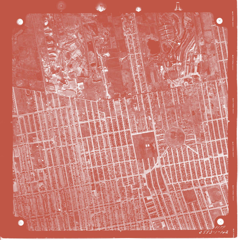 Vue aérienne du secteur Saint-Michel Sud - Archives