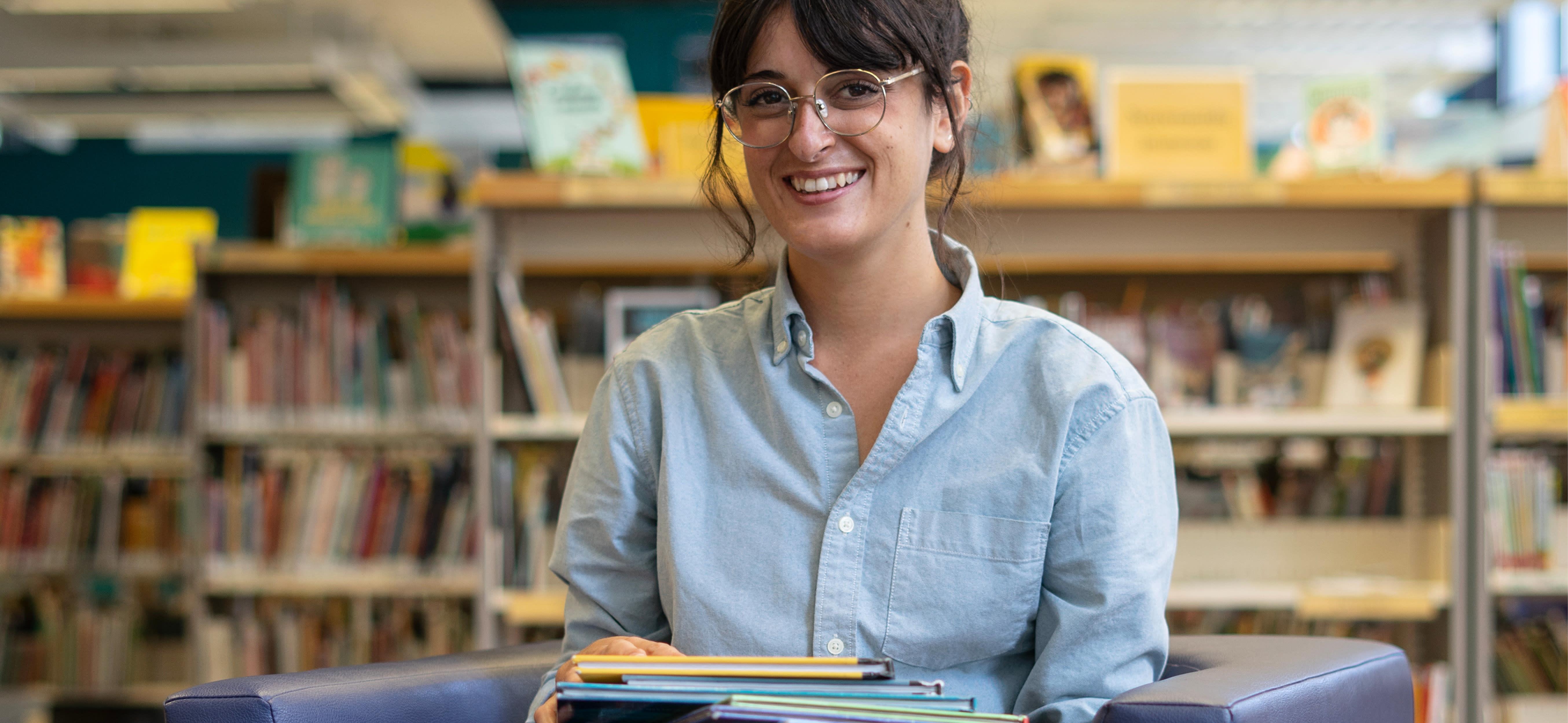 Alexandra Girard est bibliothécaire à la bibliothèque Frontenac dans Ville-Marie