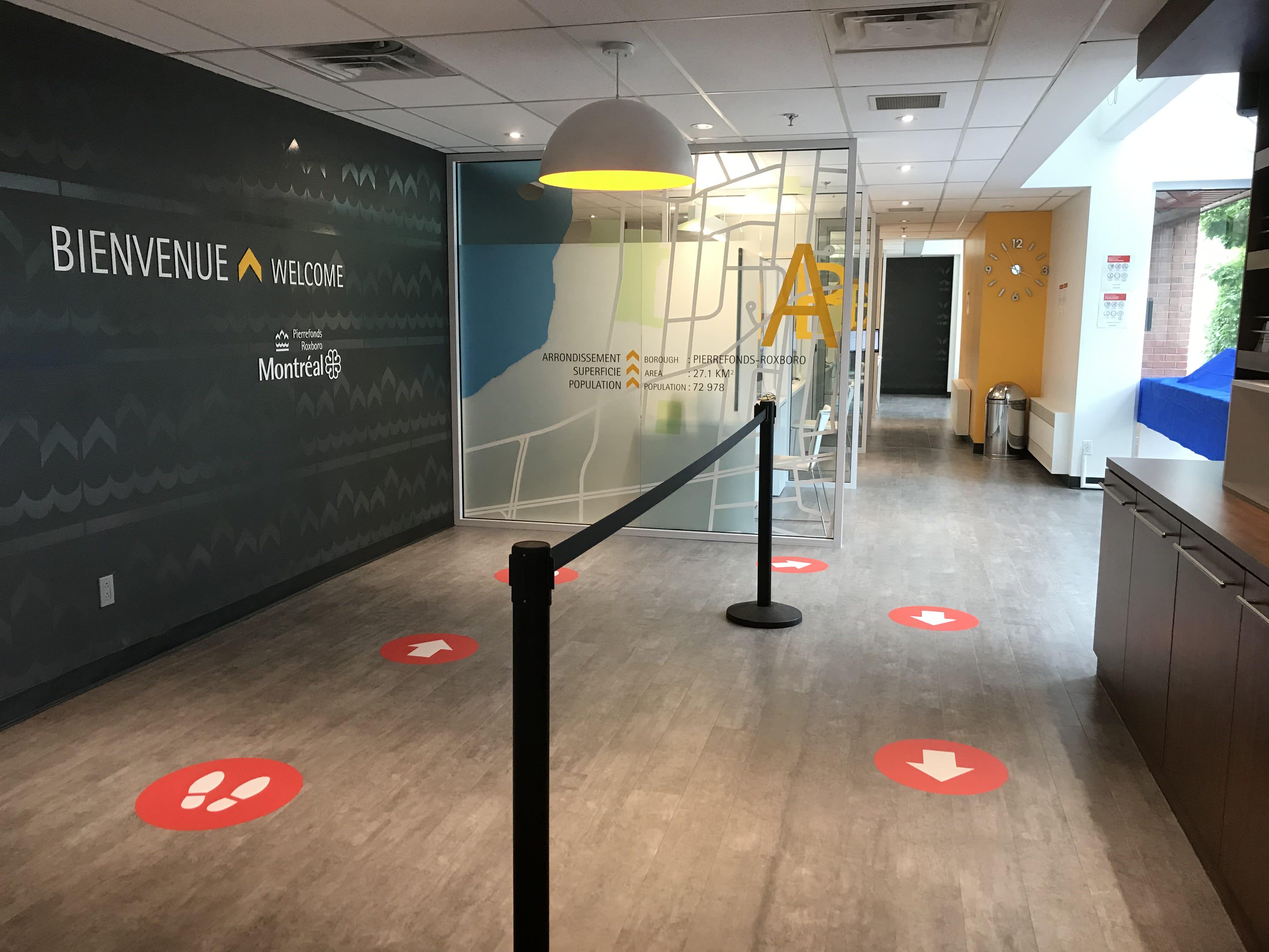 Corridors sanitaires au BAM à Pierrefonds-Roxboro