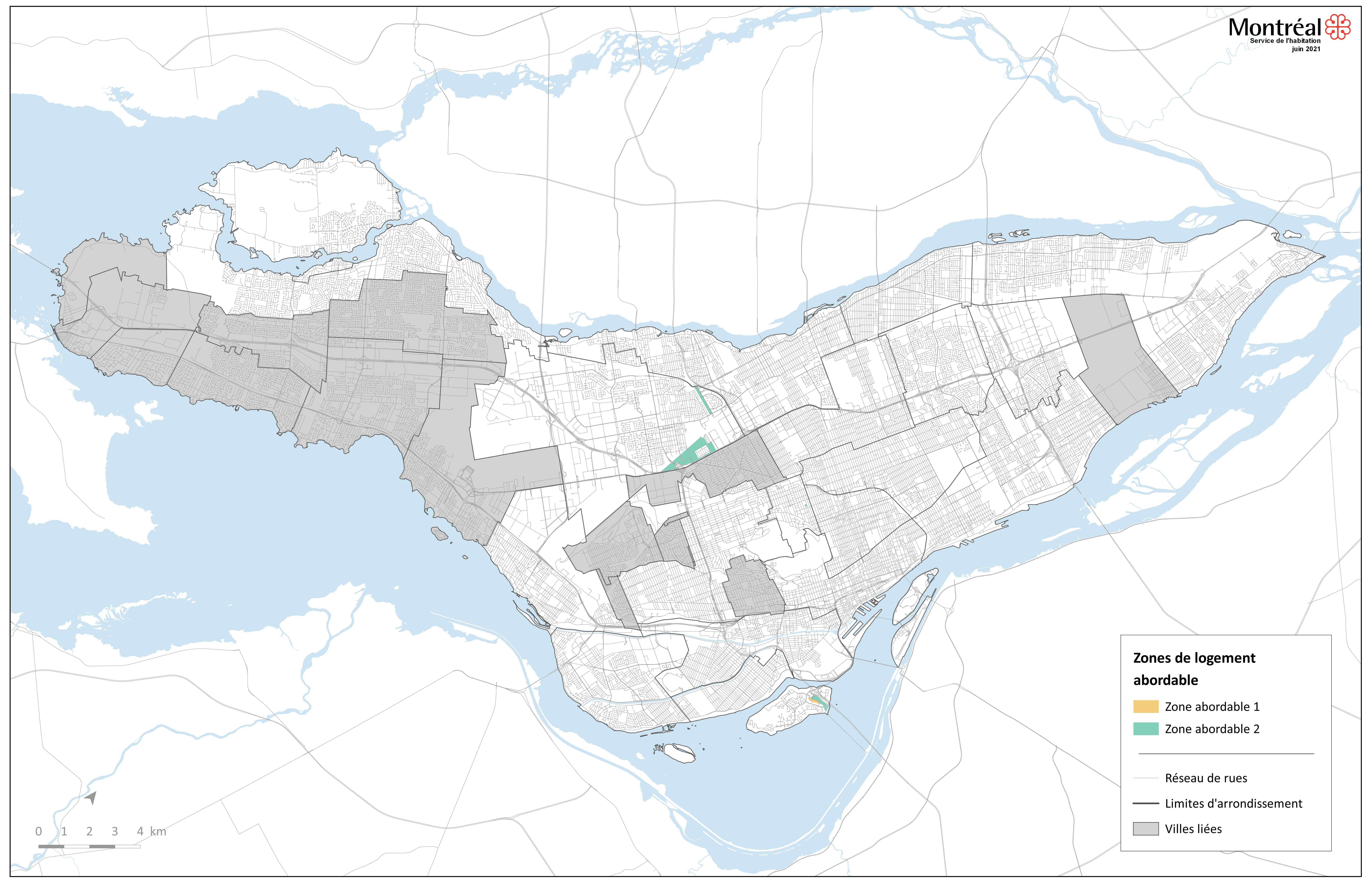 Zones abordables actuelles - Règlement pour une métropole mixte