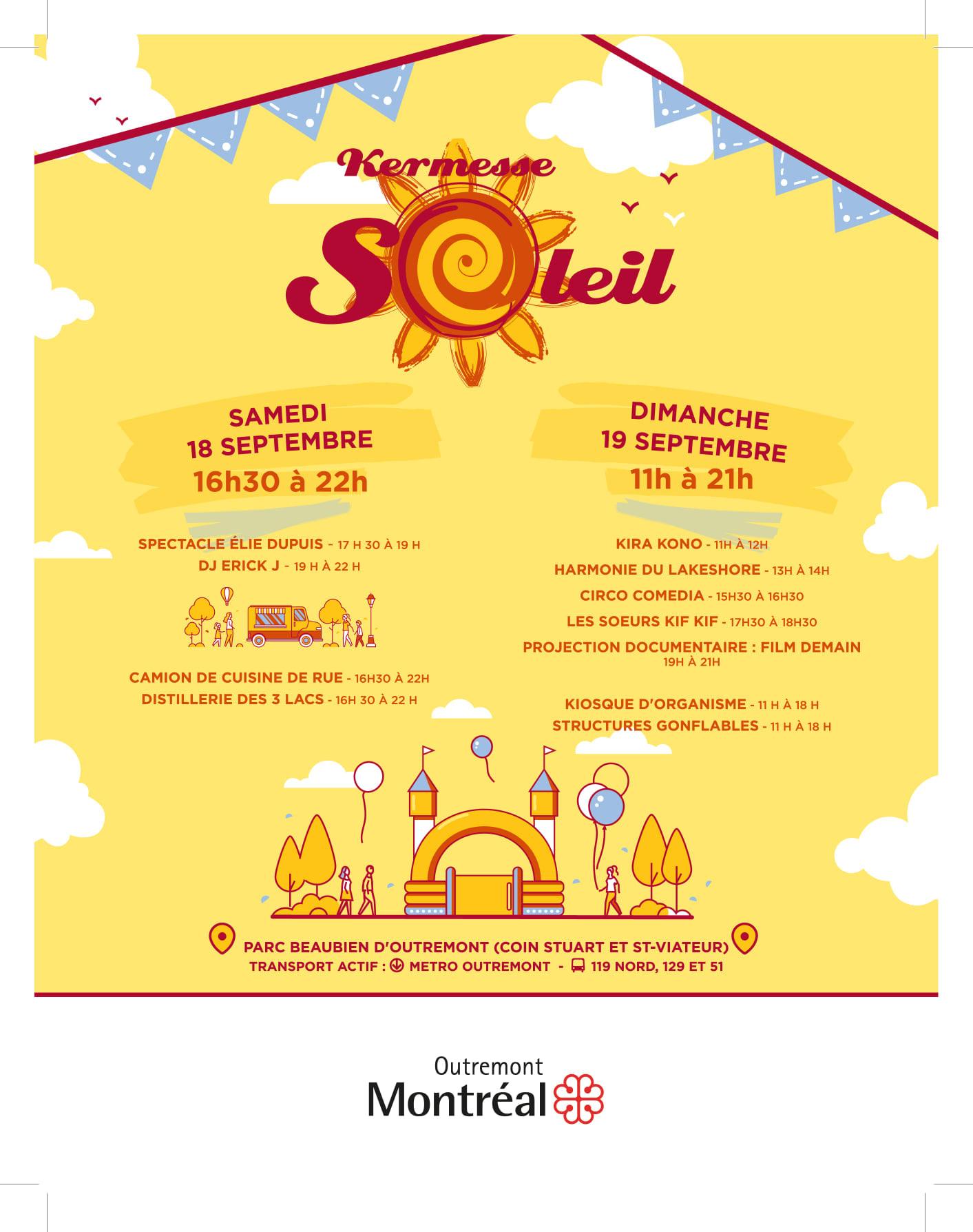 Kermesse Soleil - Programmation - Outremont