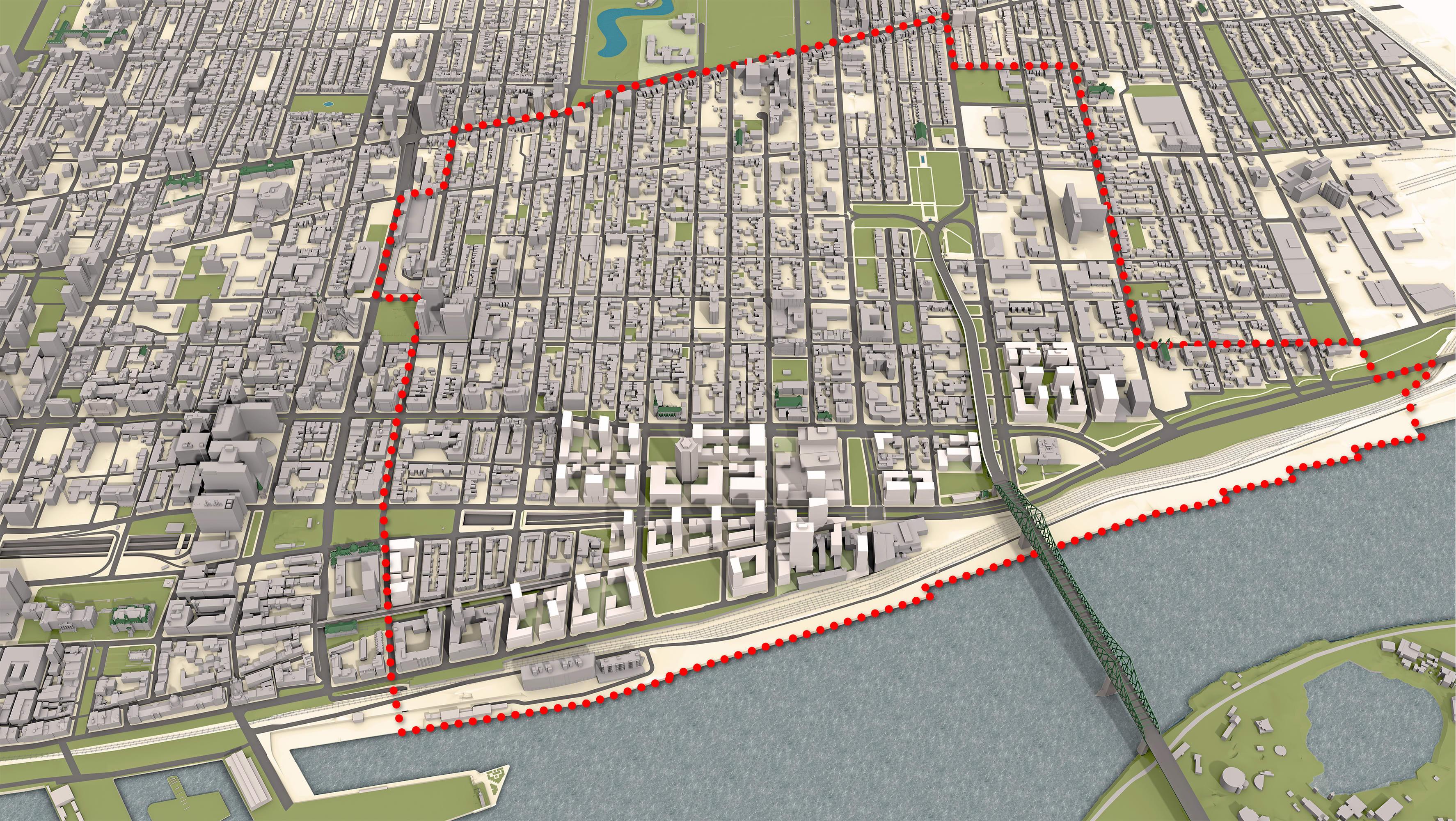 Vision proposée pour le secteur des Faubourgs