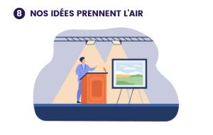 Illustration de ce à quoi pourrait ressembler le projet 8- Nos idées prennent l'air