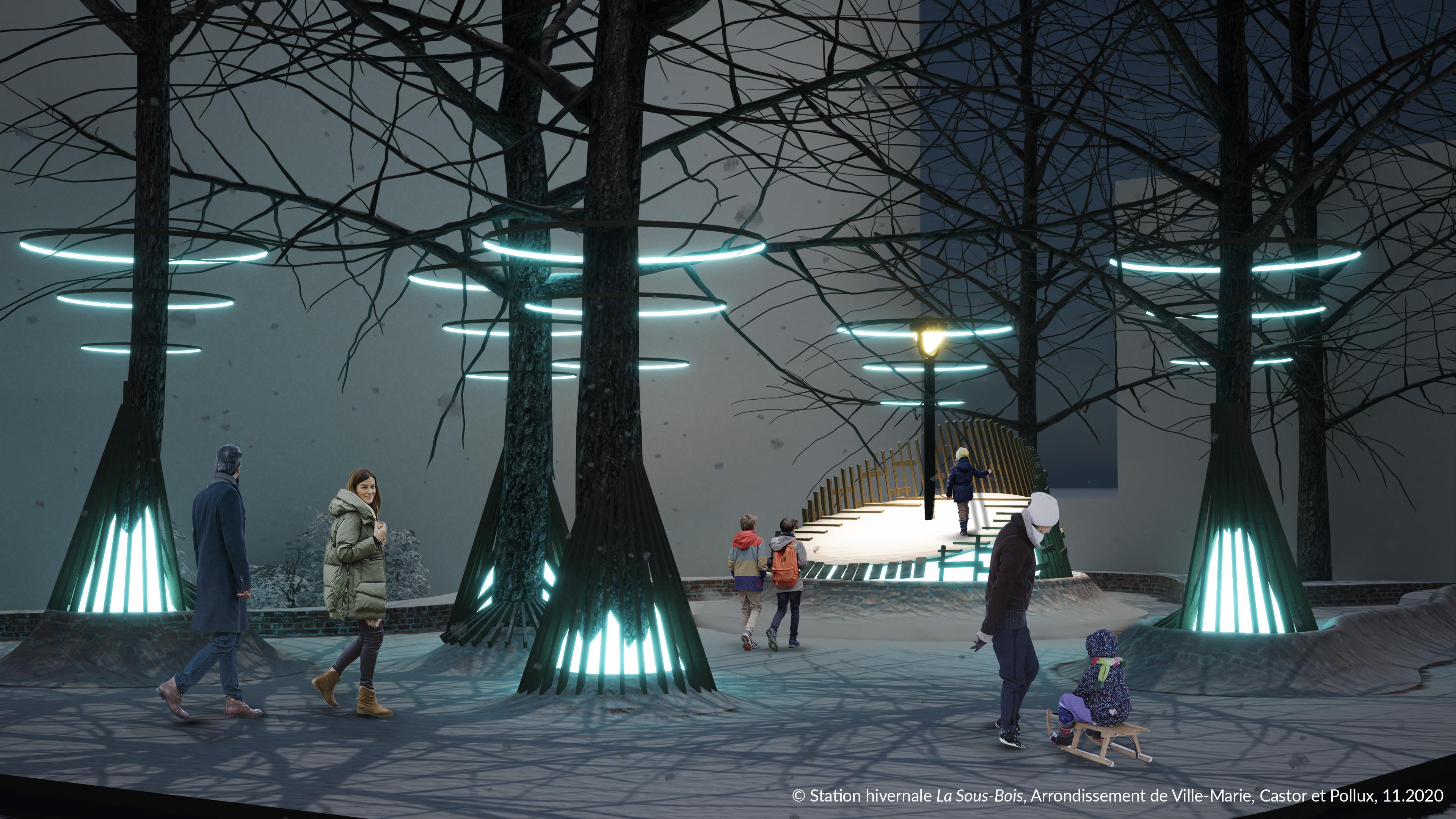 Station hivernale « La Sous-bois » au parc Charles-Mayer