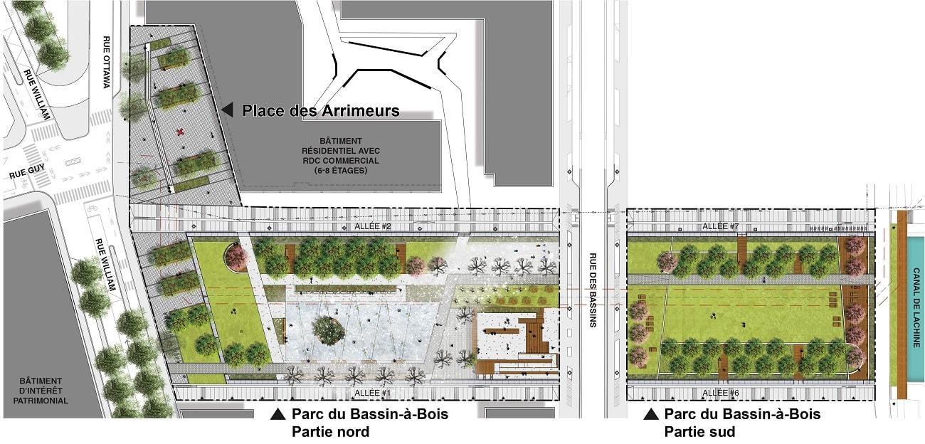 Maquette parc du Bassin-à-bois