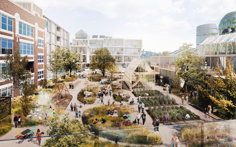 À quoi pourraient ressembler les bâtiments et leurs abords en 2050...