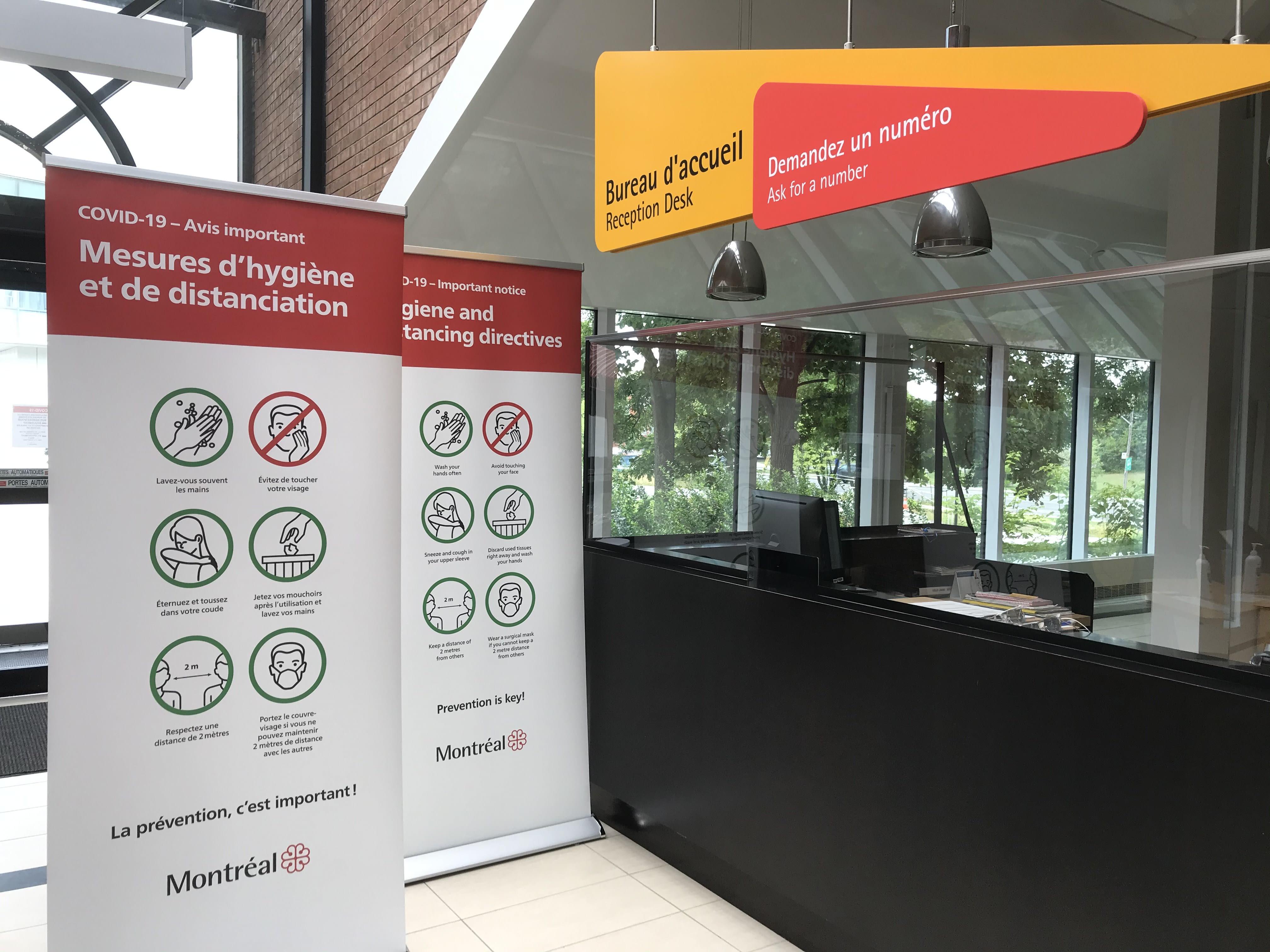 Réception du Bureau Accès Montréal à Pierrefonds-Roxboro