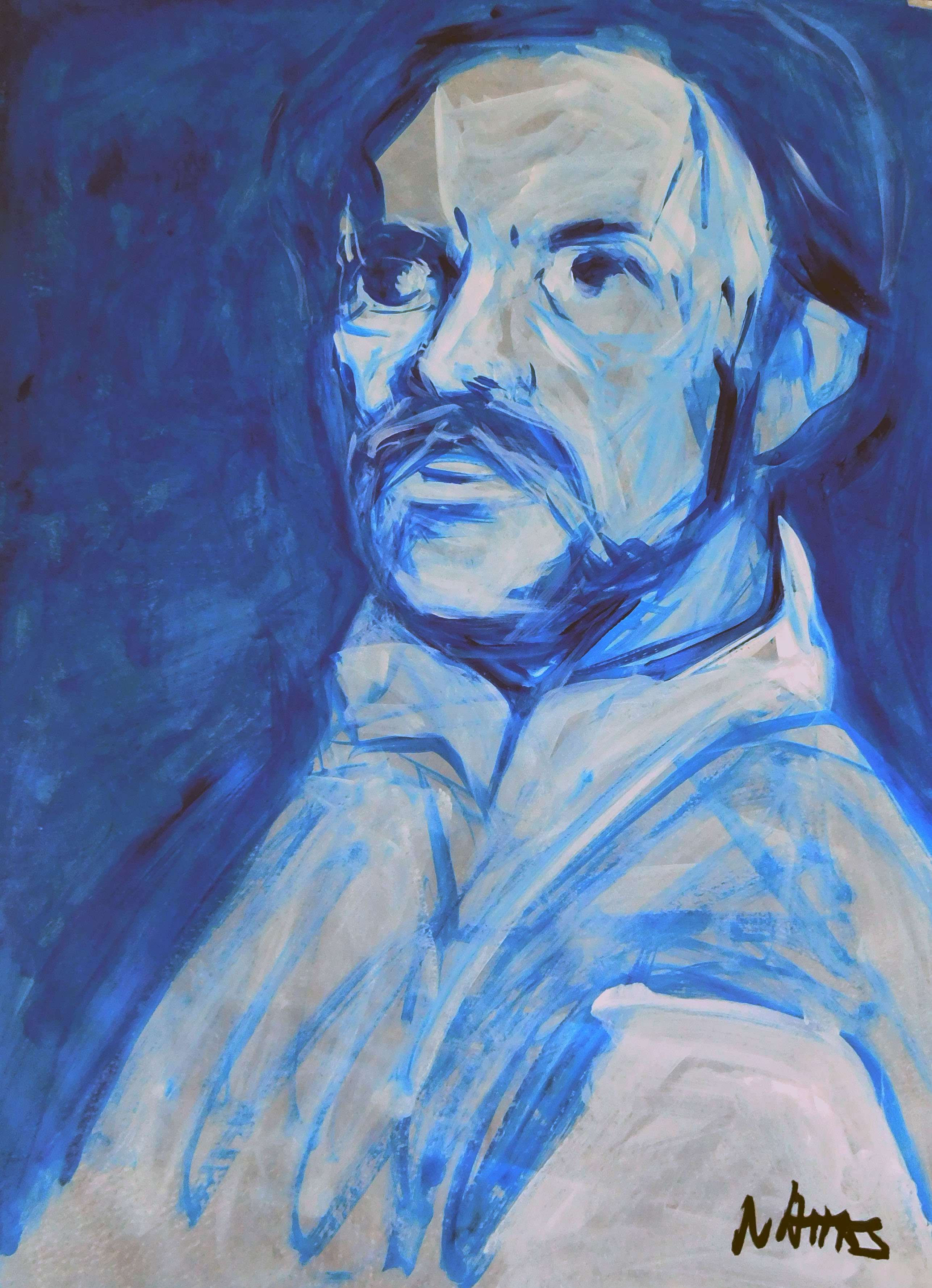 Une peinture de l'artiste Jean Marc Nahas