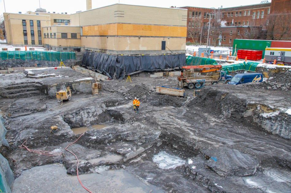 Excavation du futur complexe aquatique