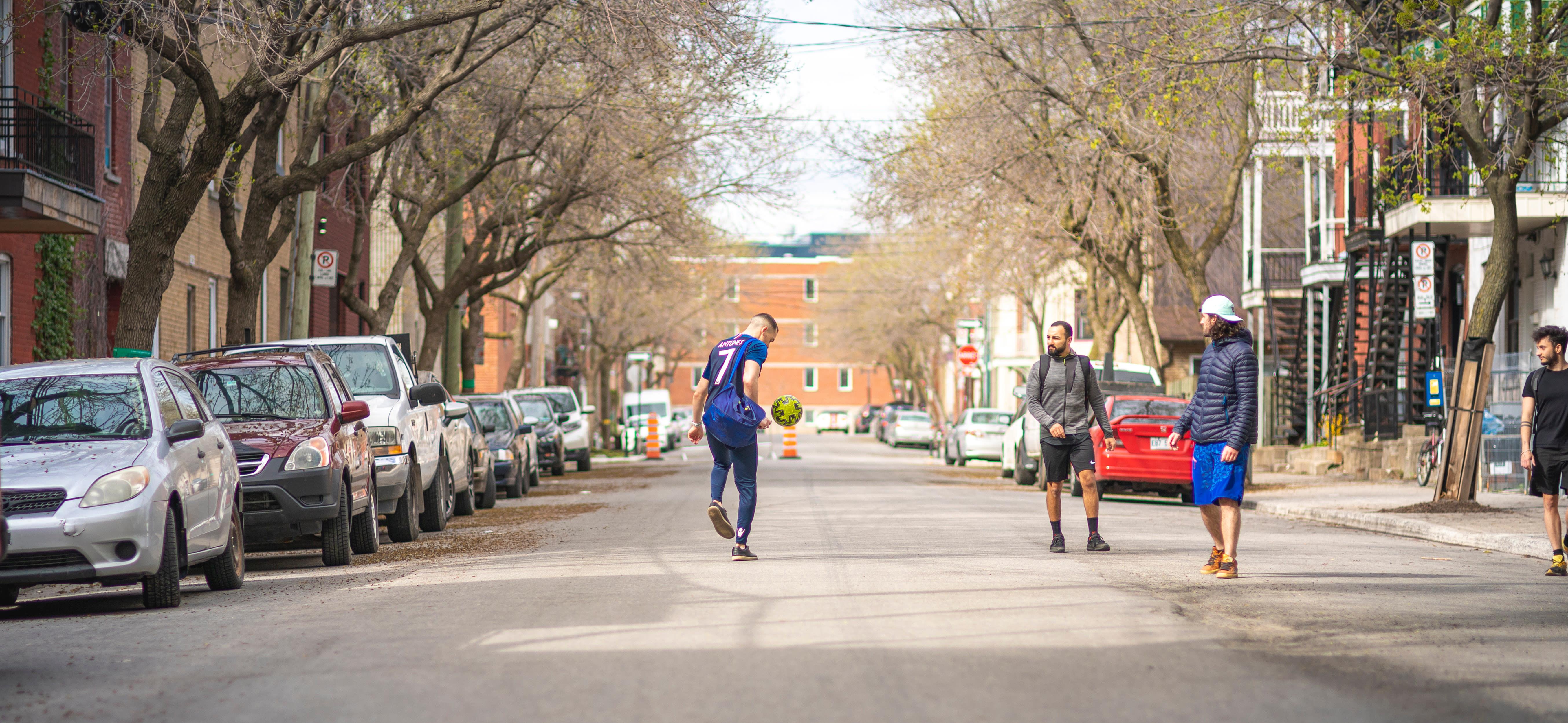Rues familiales et actives Ville-Marie Montréal