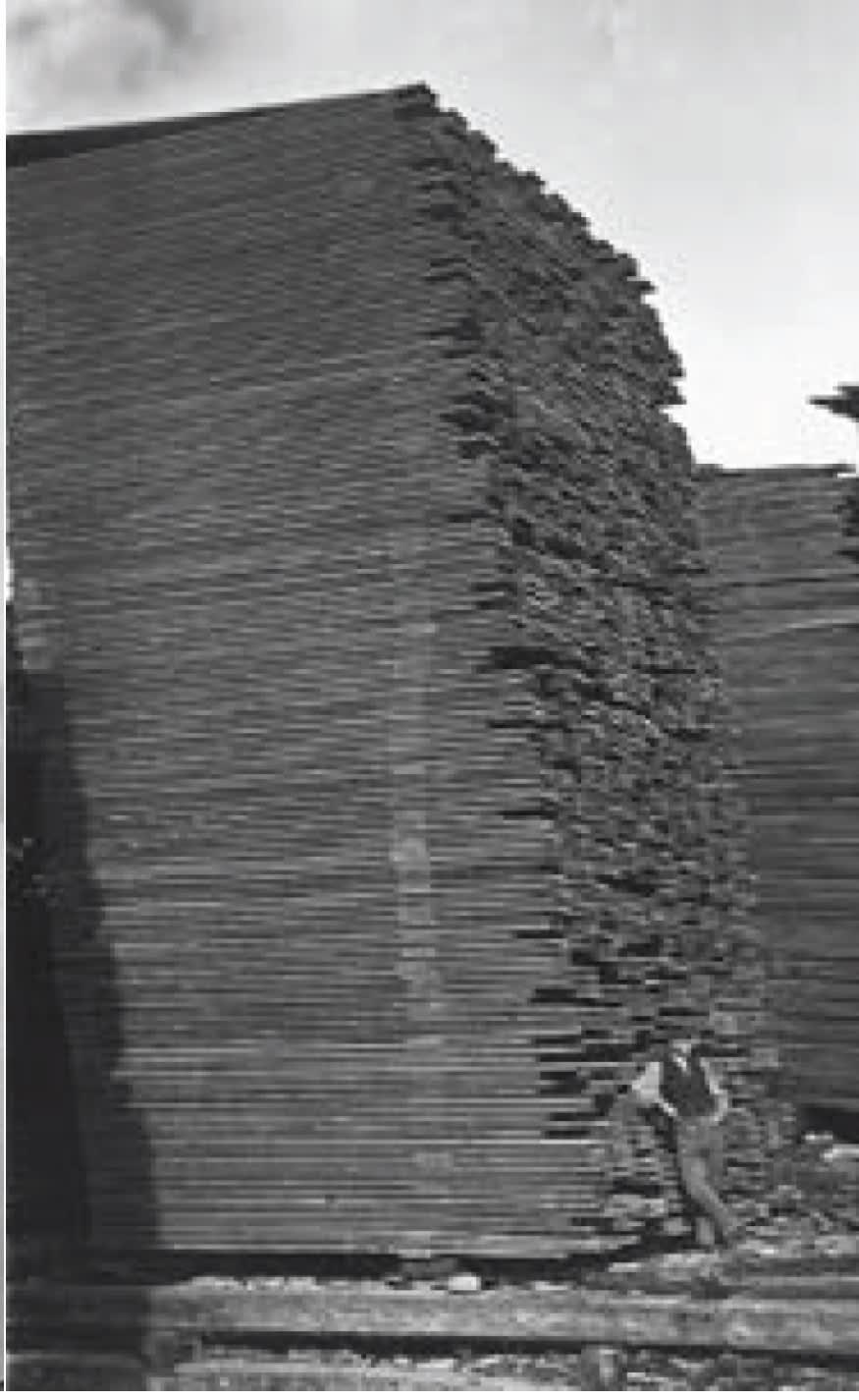 Empilage de madriers de bois - 1872