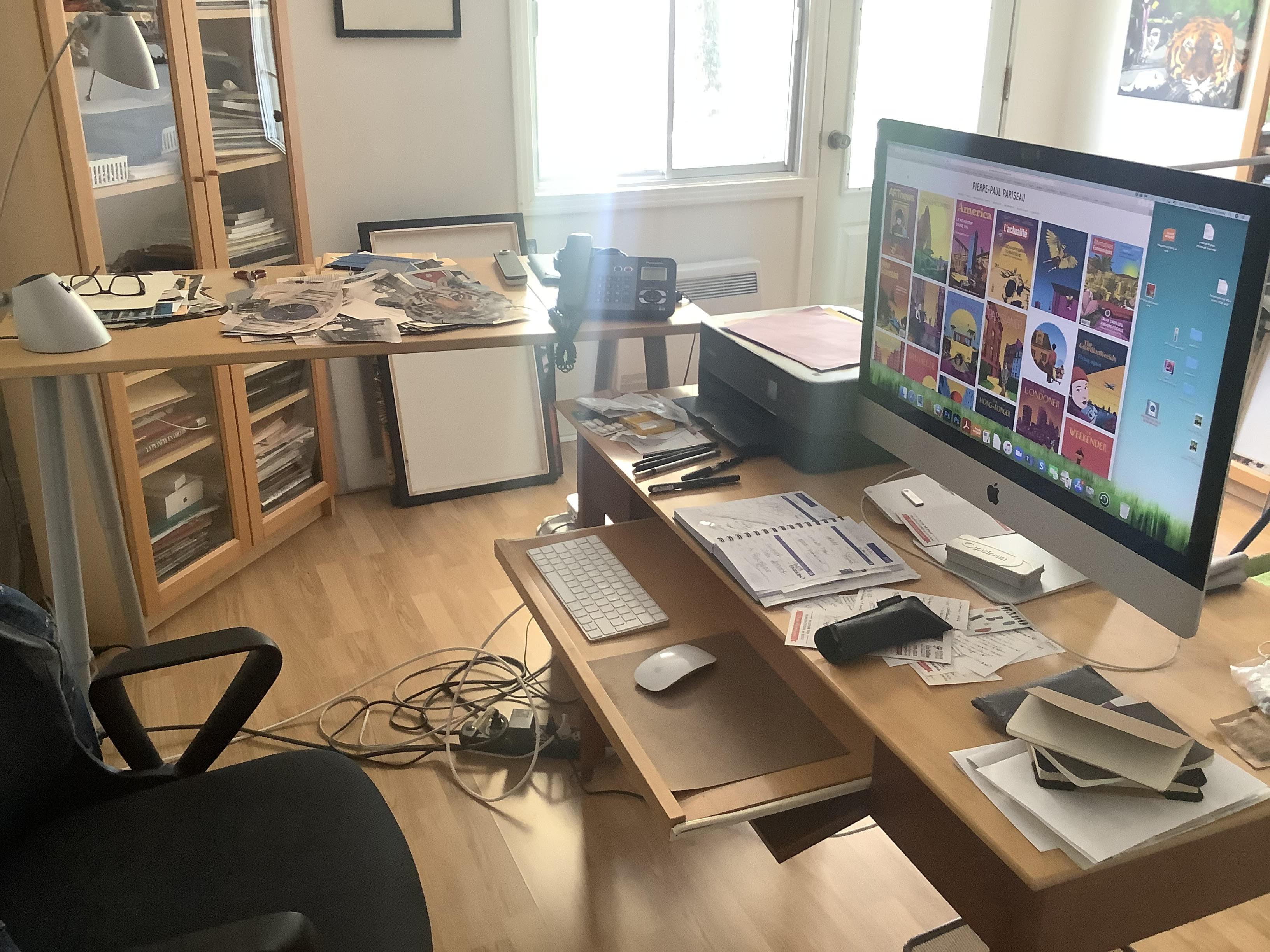 Atelier de Pierre-Paul Pariseau, artiste numérique